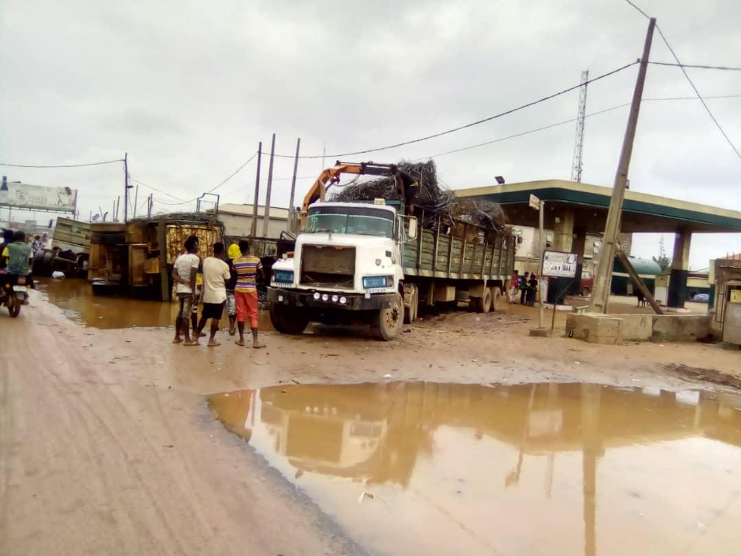 Sango Ota Toll Gate in disarray